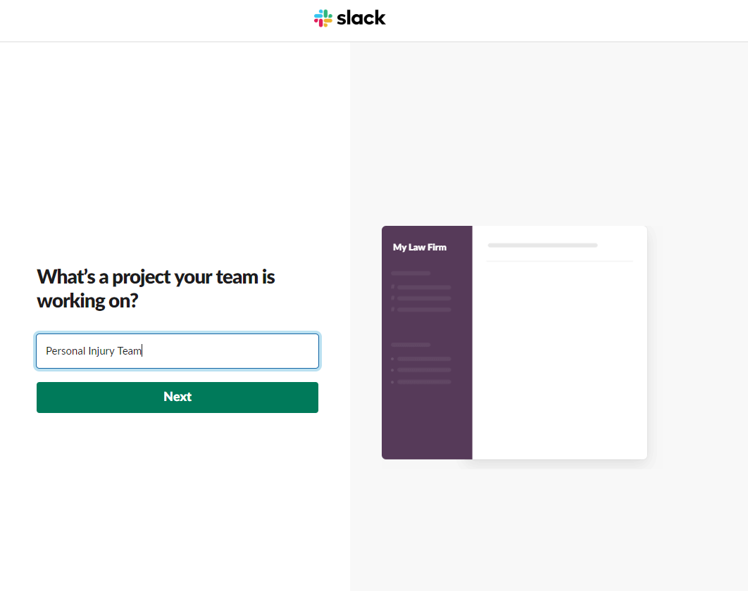 Slack - 3 - Projects or Channel Name